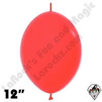 Betallatex 12 Inch Fashion Red Link O Loon 50ct