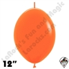 Betallatex 12 Inch Fashion Orange Link O Loon 50ct