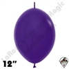 Betallatex 12 Inch Fashion Violet Link O Loon 50ct