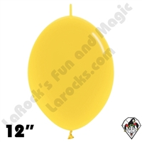 Betallatex 12 Inch Crystal Yellow Link O Loon 50ct