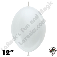 Betallatex 12 Inch Pearl White Link O Loon 50ct