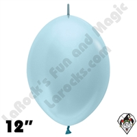 Betallatex 12 Inch Pearl Blue Link O Loon 50ct