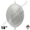 Betallatex 12 Inch Metallic Silver Link O Loon 50ct