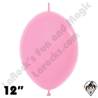 Betallatex 12 Inch Fashion Bubble Gum Pink Link O Loon 50ct