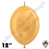 Betallatex 12 Inch Metallic Gold Link O Loon 50ct