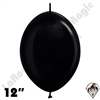 Betallatex 12 Inch Metallic Black Link O Loon 50ct