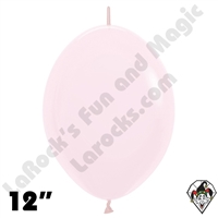 12 Inch Pastel Matte Pink Link-O-Loon Betallatex 50ct