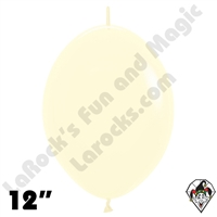 12 Inch Pastel Matte Yellow Link-O-Loon Betallatex 50ct