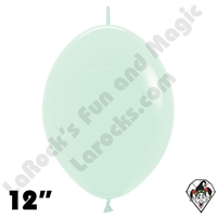 12 Inch Pastel Matte Green Link-O-Loon Betallatex 50ct