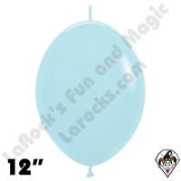 12 Inch Pastel Matte Blue Link-O-Loon Betallatex 50ct