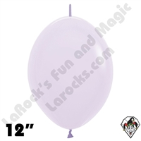12 Inch Pastel Matte Lilac Link-O-Loon Betallatex 50ct