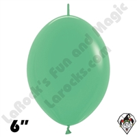 6 inch Fashion Green Link O Loon Betallatex 50ct