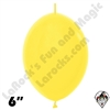 Betallatex 6 Inch Fashion Yellow Link O Loon 50ct