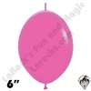Betallatex 6 Inch Deluxe Fuchsia Link O Loon 50ct