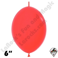 Betallatex 6 Inch Fashion Red Link O Loon 50ct