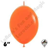Betallatex 6 Inch Fashion Orange Link O Loon 50ct