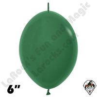 Betallatex 6 Inch Fashion Forest Green Link O Loon 50ct