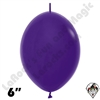 Betallatex 6 Inch Fashion Violet Link O Loon 50ct
