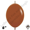 Betallatex 6 Inch Deluxe Caramel Link O Loon 50ct