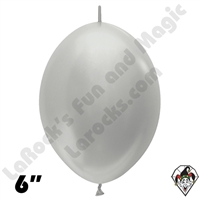 Betallatex 6 Inch Metallic Silver Link O Loon 50ct