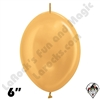 Betallatex 6 Inch Metallic Gold Link O Loon 50ct