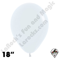 18 Inch Round Fashion White Betallatex 25ct