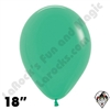 18 Inch Round Fashion Green Betallatex 25ct