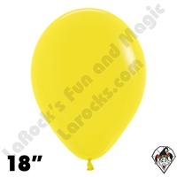 18 Inch Round Fashion Yellow Betallatex 25ct
