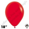 18 Inch Round Fashion Red Betallatex 25ct