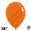 18 Inch Round Fashion Orange Betallatex 25ct