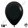 18 Inch Round Deluxe Black Betallatex 25ct