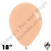 18 Inch Round Deluxe Peach-Blush Betallatex 25ct