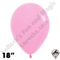 18 Inch Round Fashion Bubble Gum Pink Betallatex 25ct