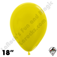 18 Inch Round Metallic Yellow Betallatex 25ct