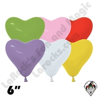 6 Inch Heart Betallatex Fashion Assortment