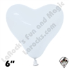 Betallatex 6 Inch Heart Fashion White 100ct
