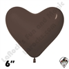 Betallatex 6 Inch Heart Deluxe Chocolate 100ct