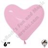 Betallatex 6 Inch Heart Fashion Bubble Gum Pink 100ct