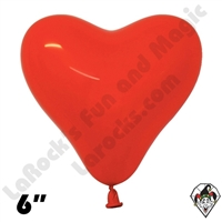 Betallatex 6 Inch Heart Fashion Red 100ct