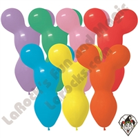 Specialty Shaped Betallatex Balloons Bear Head Large Assorted Colors 50ct