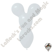Betallatex Big Bear Head Balloon White 18 inch 50ct