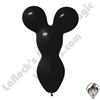 Betallatex Big Bear Head Balloon Black 18 inch 50ct
