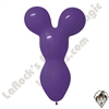 Betallatex Big Bear Head Balloon Violet 18 inch 50ct