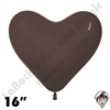 Betallatex 16 Inch Heart Deluxe Chocolate 100ct