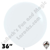 36 Inch Round Fashion White Betallatex 10ct