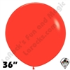 36 Inch Round Fashion Red Betallatex 10ct