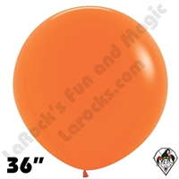 36 Inch Round Fashion Orange Betallatex 10ct