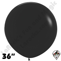 36 Inch Round Deluxe Black Betallatex 10ct