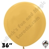 36 Inch Round Metallic Gold Betallatex 10ct