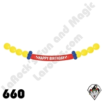 660B Banner Birthday Link-O-Loon Betallatex 1ct